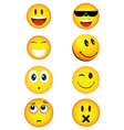 Happiness face smile vector image
