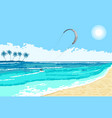 kitesurfing summer watersport seaside vector image