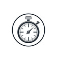 Old-fashioned pocket watch graphic Simple timer vector image