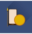 Flat web icon with long shadow mobile protection vector image