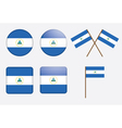 badges with flag of Nicaragua vector image vector image