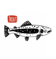 Trout black and white vector image