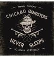Vintage label with gangster vector image