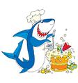 cook shark vector image vector image