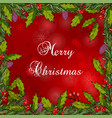 christmas frame with holly vector image