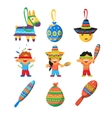 Colourful Indian Set Childish vector image