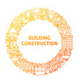 construction line icon circle concept vector image