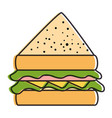 delicious sandwish isolated icon vector image