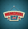 Memorial Day American signs vector image