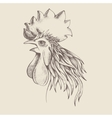 profile of cock vector image