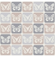 Seamless pattern with butterflies Eps 8 vector image