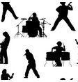 seamless pattern with rock musicians vector image