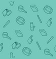 smoking flat outline isometric pattern vector image
