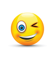 winking emoji vector image vector image