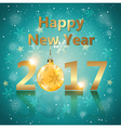 Greeting card for new 2017 year vector image vector image