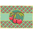 Cherries background vector image vector image