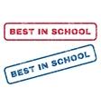 Best In School Rubber Stamps vector image vector image