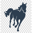 silhouette horse black vector image