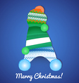 Christmas Card with Caps vector image vector image