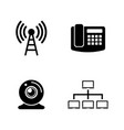 Communication simple related icons vector image