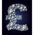pound symbol in diamonds vector image