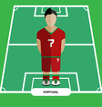 Computer game Portugal Soccer club player vector image