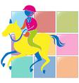 Sport icon design for equestrain in color vector image