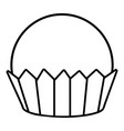 cupcake icon outline line style vector image