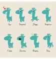 Cute deers stickers vector image