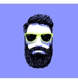 Hipster fashion bearded man portrait in sunglasses vector image
