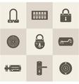 Locks icons vector image