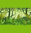 seamless nature jungle cartoon landscape vector image