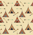 seamless wigwam pattern vector image