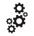 set of cogs vector image