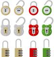 twelve padlocks vector image