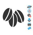 wheat seeds icon with free bonus vector image