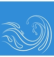 Storm water wave vector image