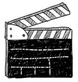 Doodle movie clapperboard vector image