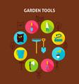 concept garden tools vector image