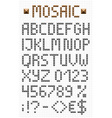 Mosaic uppercase english alphabet vector image