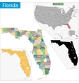 Florida map vector image
