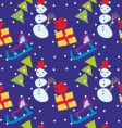 pattern with Christmas vector image vector image