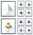 3D pyramid business Infographic set vector image