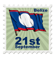 national day of Belize vector image