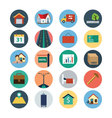 Flat Real Estate Icons 4 vector image