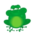 a funny frog vector image