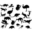 Animals of Australia vector image