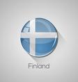 European flags set - Finland vector image