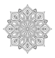 Hand drawn zentangle mandala vector image