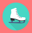 Ice skate flat icon vector image